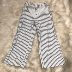 Madewell striped wide leg jeans